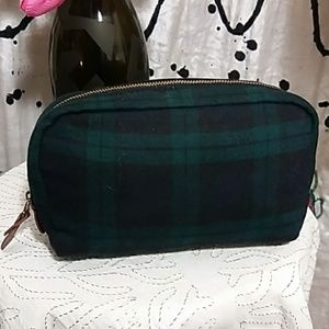 cb7921d7a2 Madewell Bags - Madewell wool tartan plaid leather toiletry bag
